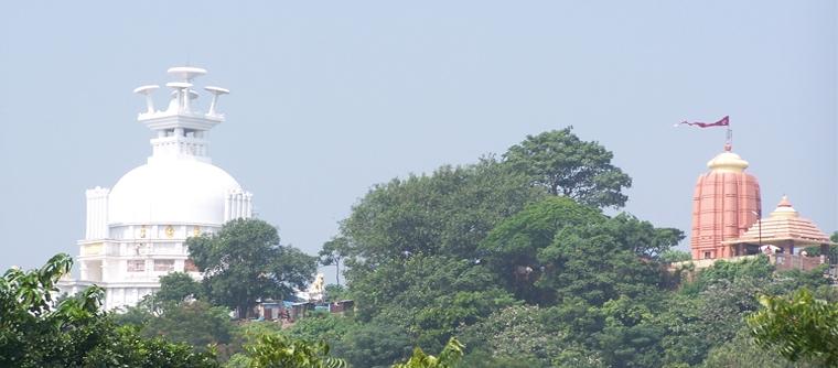 Dhauli the peace pagoda